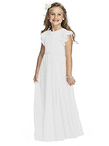Castle Fairy Girls Holy Communion Long Gowns Pageant Junior Bridesmaid Evening Dresses 14 White]()