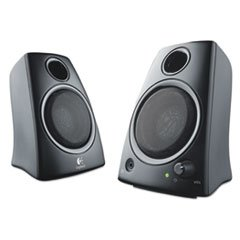 Z130 Compact 2.0 Stereo Speakers 3.5mm Jack Black