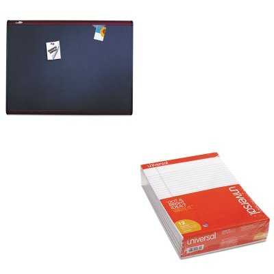 KITQRTMB543MUNV20630 - Value Kit - Quartet Prestige Plus Magnetic Fabric Bulletin Board (QRTMB543M) and Universal Perforated Edge Writing Pad (UNV20630) by Quartet