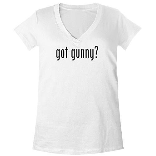 The Town Butler got Gunny? - A Soft & Comfortable Women's V-Neck T-Shirt, White, X-Large