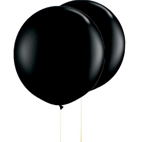 AZOWA 36 In Gaint Round Latex Balloons Black 10 Pcs Large Party Balloon Big Latex Balloons for Party Decorations