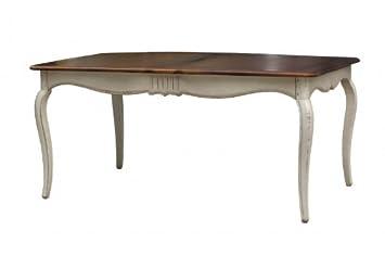 Esstisch massiv antik weiß  Esstisch Vintage weiß massiv Holz Tisch Küchentisch Speisetisch ...