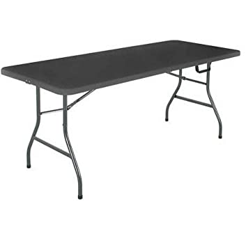 Cosco 6 Centerfold Table Multiple Colors Black