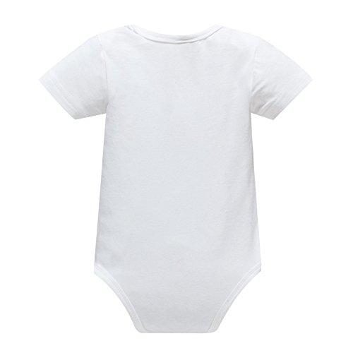 Yatong Baby Boys Girls Short Sleeve Bodysuit Onesies Baby Romper (6-12 Months, Brother)