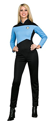 Rubie's Women's Star Trek The Next Generation Deluxe Science Uniform Jumpsuit, Blue, Medium