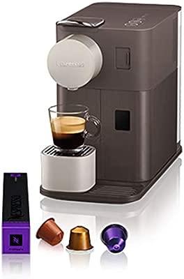 Nespresso EN500BW DeLonghi Lattissima One - Cafetera monodosis de cápsulas Nespresso con depósito de leche compacto, 19 bares, apagado automático, ...