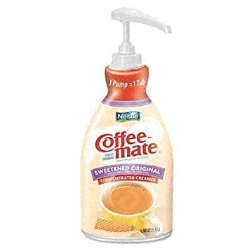 Coffee Mate Liquid Pump Bottle Liquid Coffee Creamer Pump