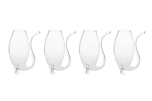 "Fox Run 48747 Hand Blown 3"" Porto Sippers, 2.75 x 1.5 x 3.5 inches, White"