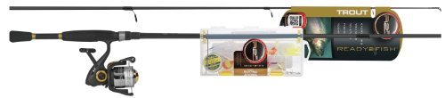 Trout 2 Fish Ready - Ready 2 Fish Trout Spin Combo with Kit, Medium by Ready 2 Fish