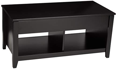 AmazonBasics Lift-Top Storage Coffee Table, Black