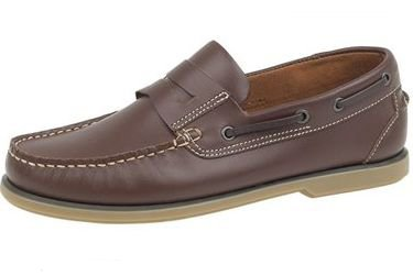 Slip on boat shoe dark brown: Amazon.co.uk: Shoes & Bags