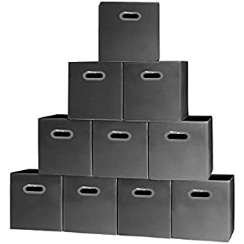 Merveilleux Prorighty [10 Pack, Black] Storage Cubes With Two Handles, Ideal For  Shelves Baskets Bins Containers Home Decorative Closet Organizer Household  Fabric Cloth ...