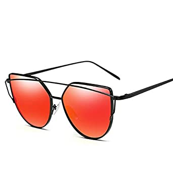 f35577fd7ec1 Bharat Ventures C2  Women Cat Eye Sunglasses Hot Sale Mirror Flat Lens  Classic Brand Designer Twin  Amazon.in  Clothing   Accessories