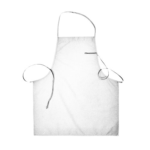 Basic Costumes Boots (Basic Bib Apron no pockets with Extra Long Ties (12, White))