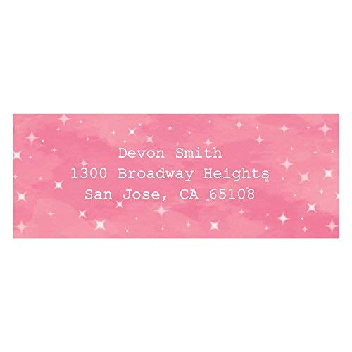 Custom Pink Twinkle Twinkle Little Star - Personalized Baby Shower or Birthday Party Return Address Labels - Set of 30 ()