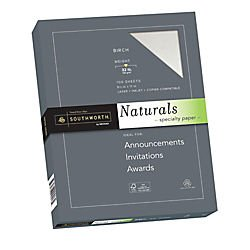Southworth Company 99418 Naturals Paper, Birch, 8 1/2 X 11, 32 Lb, 100/ream