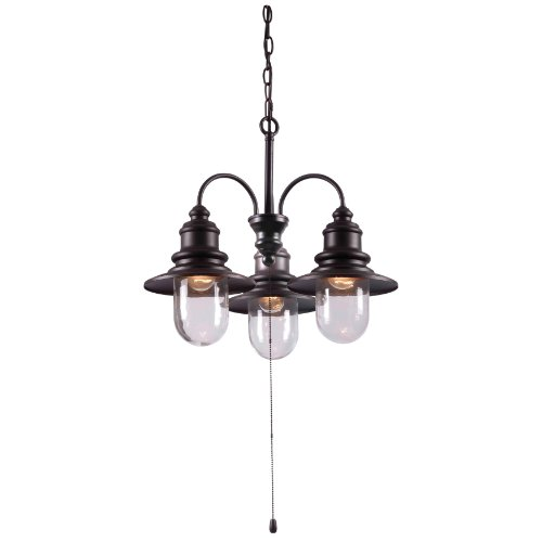 Kenroy Outdoor Lighting (Kenroy Home 93033ORB  Broadcast 3-Light Outdoor Chandelier, Blackened Oil Rubbed Bronze)
