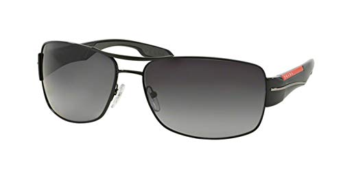 ffbee772da Prada Linea Rossa Men s PS 53NS Sunglasses Black   Polar Grey Gradient 65mm