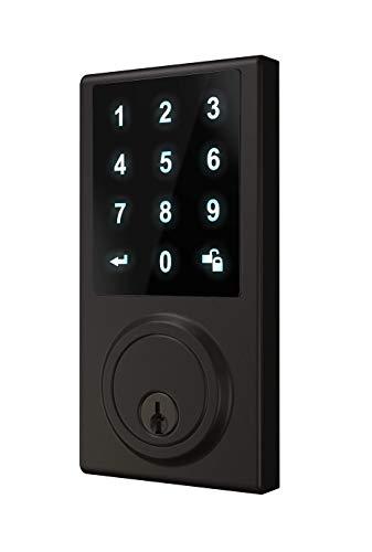 Delaney Hardware 301779, Matte Black Z-Wave Smart TOUCHPAD US19 Deadbolt Lock,