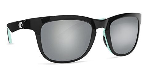 Costa Del Mar 580p COPRA Black/Mint Sunglasses, Gray Silver Mirror - Copra Costa