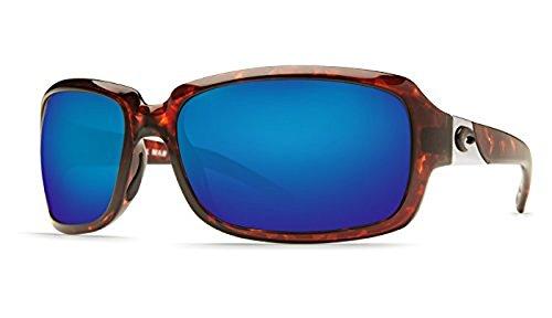 Costa Isabela Sunglasses Tortoise Frame Blue Mirror Columbus-Mate