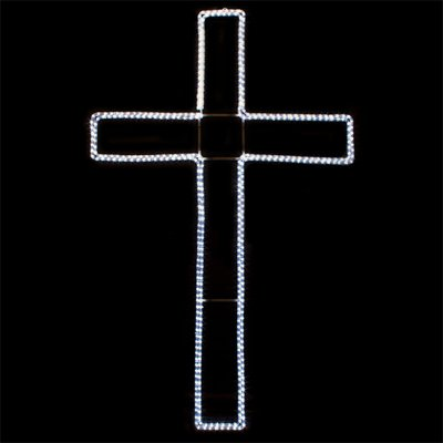 - Cool White LED Cross Lighted Motif 45 Inches x 72 Inches