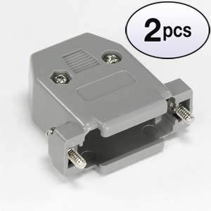 (GOWOS (2 Pack) DB15 Plastic Hoods Gray Screw Type)