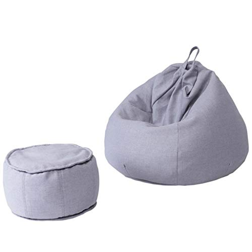 Amazon.com: LZXBEANBAG Bean Bag Chair with Footstool Lazy ...