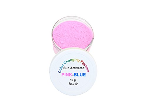 Sun Activated Photochromic Powder Pigment Pink Changing to Violet-Blue When Exposed to UV Light Perfect for Color Changing Slime Goo Nail Polish by Atlanta Chemical Engineering