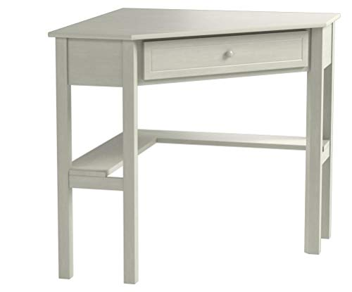Target Marketing Systems Wood Corner Desk with One Drawer and One Storage Shelf, Antique White Finish by Target Marketing Systems (Image #4)