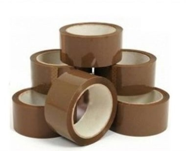 6 x Roll Brown Buff Packing Parcel Packaging Tape Sellotape Wrapping 48mm x 66m