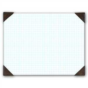 Bulk Quadrille Pads, 40 Sheets, Brown Corners: HOD410-03 (9 Quad Desk Pads)