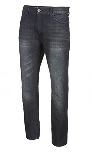VINTAGE GENES Mens Stretch Skinny Washed Denim Jeans, Dark Enzyme Blue 28x30 (Dark Vintage Jeans)