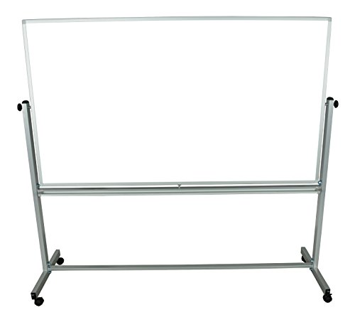 Educational Silver Framed Magnetic Dry Erase Portable Presentation Whiteboard 72 X 40 by Generic