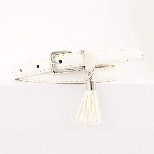 TMSHEN Pin Buckle Women Fashion Belts Pu Leather Belt Woman for Dress Female Straps Femme Fringe Decoration Belts for Women