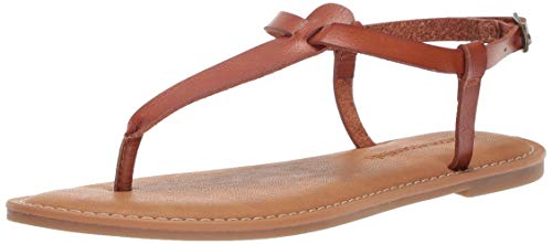 - Amazon Essentials Women's Casual Thong with Ankle Strap Sandal, tan, 8 B US