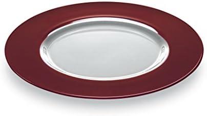 RIALTO vidrio-platos granate, diámetro 35 cm, vidrio especial ...