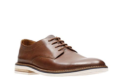 Bostonian Men's Dezmin Plain Oxford, Brown Waterproof Leather, 11 Medium US,Brown Leather,11 - Dress Bostonian Shoes Mens