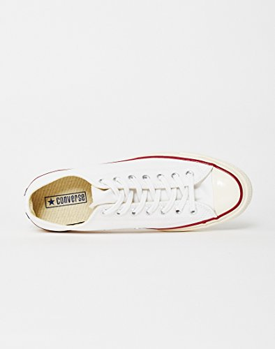 Unisex Ox Zapatillas Black de Chuck 70 Converse Canvas Adulto CTAS Blanco 110 Red Taylor Deporte White IAHz6qwF