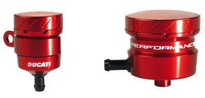Ducati Panigale Billet Aluminum Brake and Clutch Reservoir Kit-Red