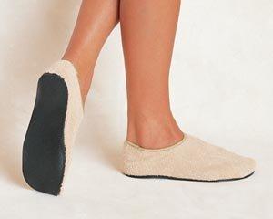Albahealth 80204 Care-Steps II Hard Sole Slipper Footwear, Terry Upper, Pair, Adult 5-6, Beige (Pack of 60)