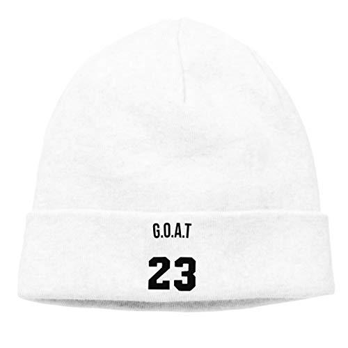 (Jordan 'Goat' Nickname Baseball Caps Slouchy Beanie Cap Skull Caps White)