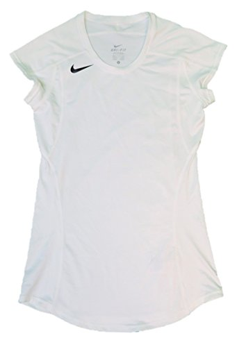 Nike 20/20 Women's Cap Medium Short Sleeve T-Shirt Jersey (Small, White)