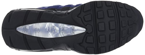 Nike Air Max 95 Essential, Sneaker Uomo Multicolore (Black/White-binary Blue-deep Royal-game)