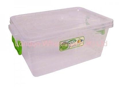 Bee Home Abeja casa no: 3 Maxi caja de almacenaje con cerradura, transparente,