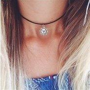 Asa 90s Sun Choker Necklace