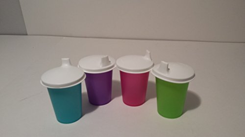 Sippy Cup Tumbler Bottle Kids Four Piece Set with Domed Air Tight Leak Proof Lids
