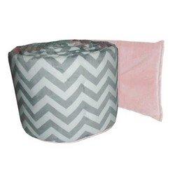 Minky Chevron Cradle Bumper, color: Pink, size: 15x33