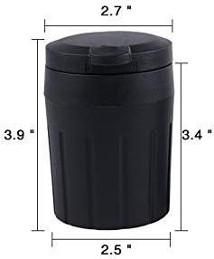 EUEMCH 車の灰皿ポータブル収納黒ゴミ箱車のインテリアアクセサリー車の灰皿