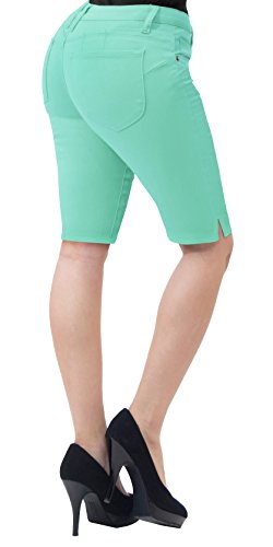 - HyBrid & Company Super Comfy Stretch Bermuda Shorts B43305X Mint 20